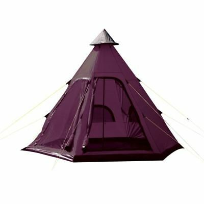 Yellowstone Teepee Tent Tipi Style 4 Man Berth Person C&ing Festival Wigwam  sc 1 st  eBay & Yellowstone Teepee Tent Tipi Style 4 Man Berth Person Camping ...