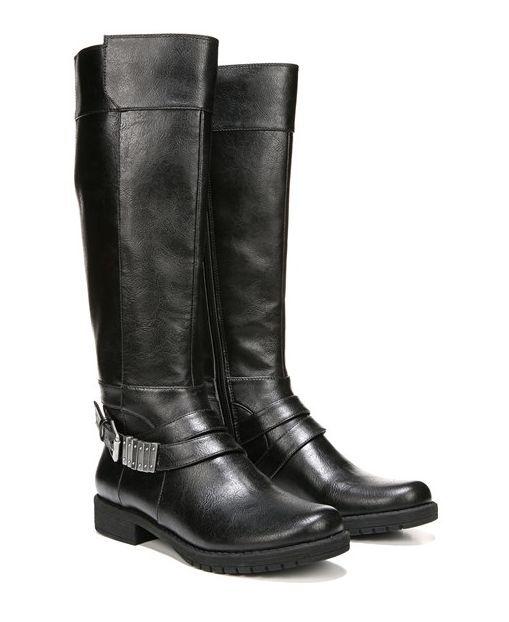 NEW LIFESTRIDE MAXIMIZE BLACK TALL BOOTS WOMENS 9.5 KNEE HIGH ZIP TALL BOOTS