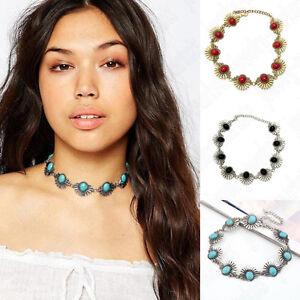 Fashion-Women-Flower-Crystal-Pendant-Statement-Chunky-Choker-Bib-Necklace-Chain