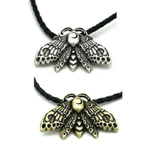 1Pc Acherontia Death Head Hawkmoth Skull Moth Insect Animal Pendant Necklace