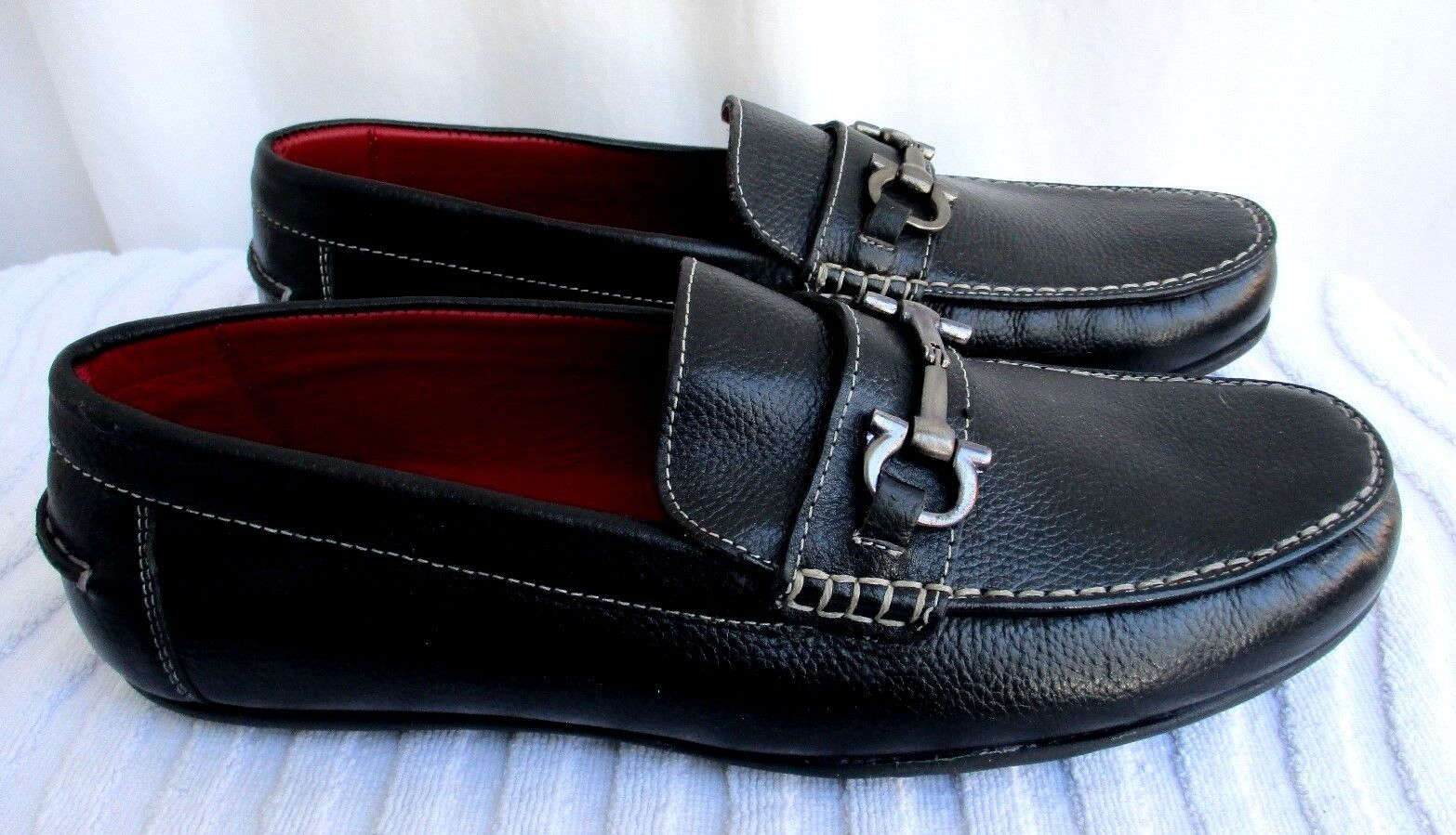 Men/Women NATAZZI..BLACK..PEBBLED LEATHER.SLIP-ON..DRIVING..MOCCASIN /SHOES  LOAFER.NEW 11 Various styles New style Complete specifications