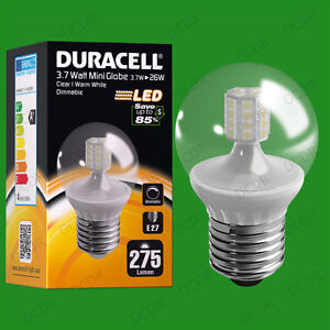 8x-3-7W-a-variation-Duracell-LED-Transparent-Mini-Globe-Allumage-Instantane