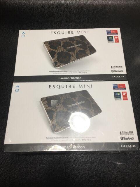 Harman Kardon Esquire Mini Leopard Wireless Portable Speaker COACH Edition NEW