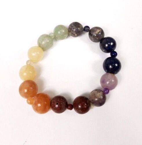 7 Chakra Elastic Beaded Power Bracelet Pranic Healing Meditation