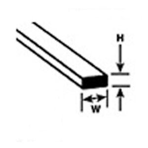 """Evergreen styrène 121 - 10 x 0-020 """"x 0-030 po (0-5 mm x 0-75 mm) 14"""" - 355mm bande nouveau-afficher le titre d`origine WVHHQ5v2-08124121-191830247"""