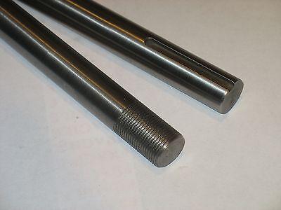 "Threaded 5//8/""-18 6/"" Long 5//8/""  Steel Shaft // Rod - Keyed 3//16/"""