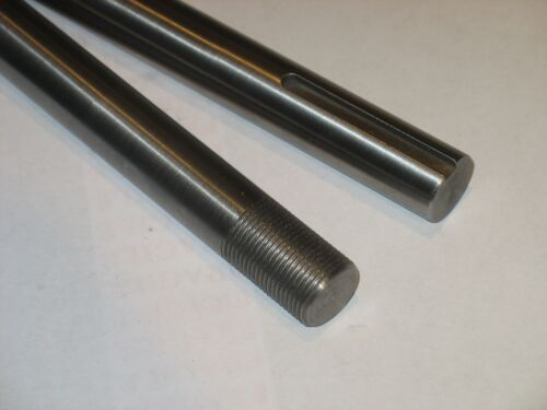 """with nuts  24/"""" Long both ends 18 5//8/""""  Steel Shaft // Rod  Threaded 5//8/"""""""
