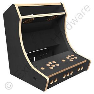 "BitCade 2 Player 19"" Bartop Arcade Machine Cabinet DIY Flatpack Kit Pi - Black"