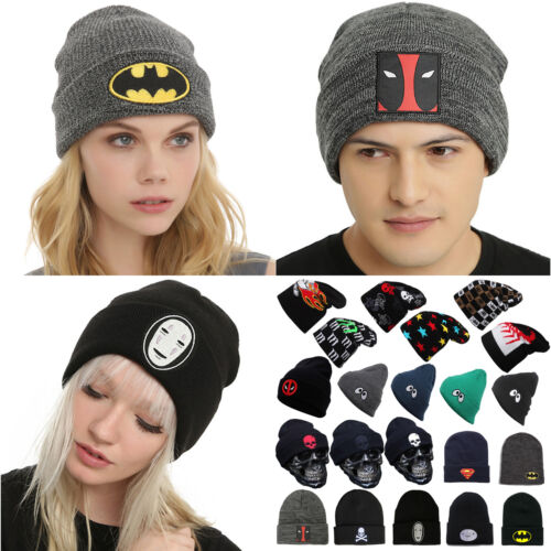Men Women Winter Knit Ski Crochet Slouch Superhero Skull Cap Beanie Hip-Hop Hats