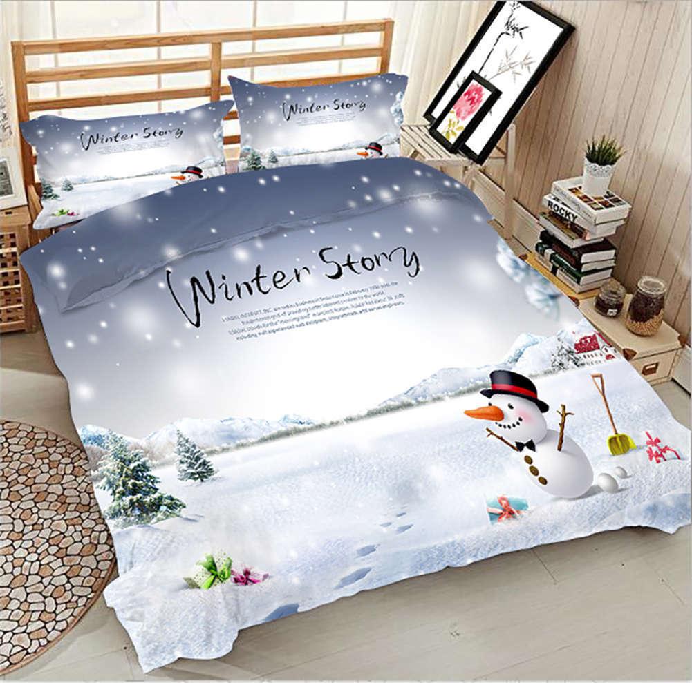 Cozy Winter Story 3D impression couette courtepointe volonté des couvertures PilFaible cas literie ensembles