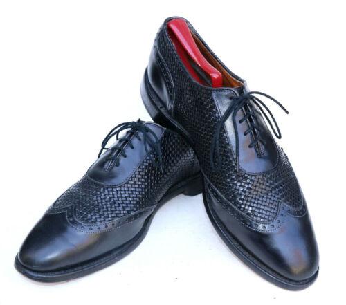 Allen Edmonds Hampstead 1908 Black Woven Leather W