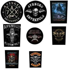 Avenged-Sevenfold-Sew-On-Back-Patch-Patches-NEW-OFFICIAL-Choice-of-8-designs