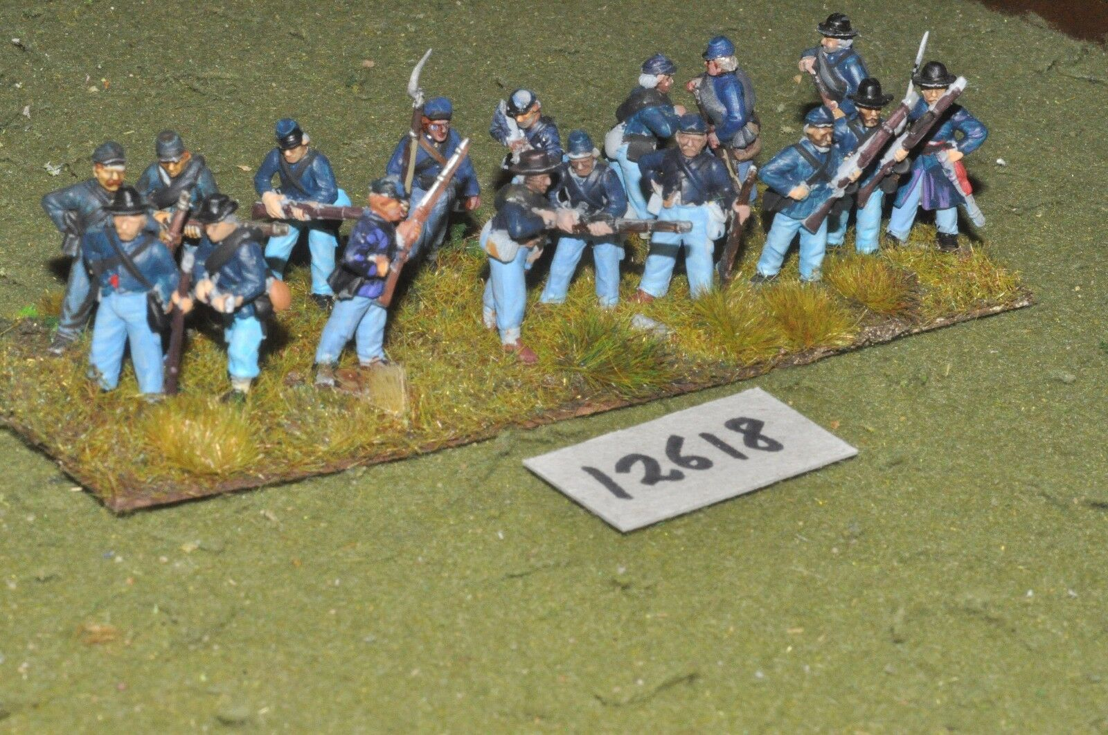 25mm ACW   union - american civil war infantry plastic 17 figs - inf (12618)