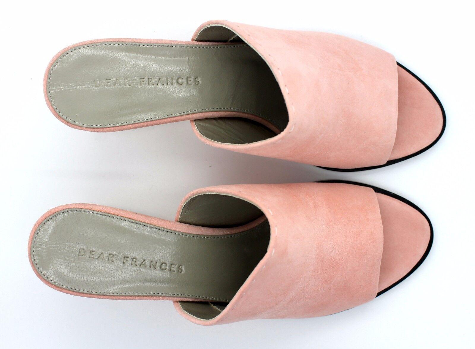 Dear Frances EU 38 Musk UK 5 Poser Mules Musk 38 Pink Open Toe Italian Designer Sandals a5cdae