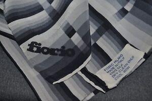 FIORIO-MILANO-100-SILK-34x33-034-Scarf-made-in-Italy-Various-Gray-Stripes