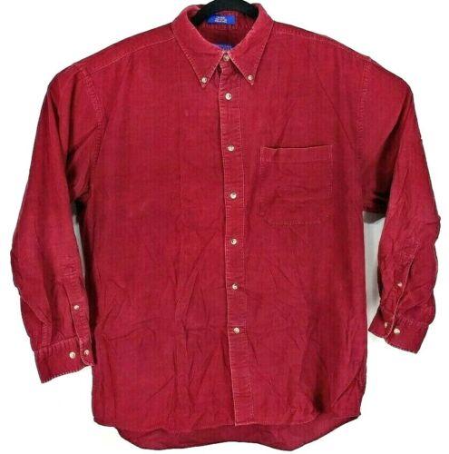VTG Pendleton Corduroy Long Sleeve Shirt Wayne Mens Size L Dark Burnt Orange