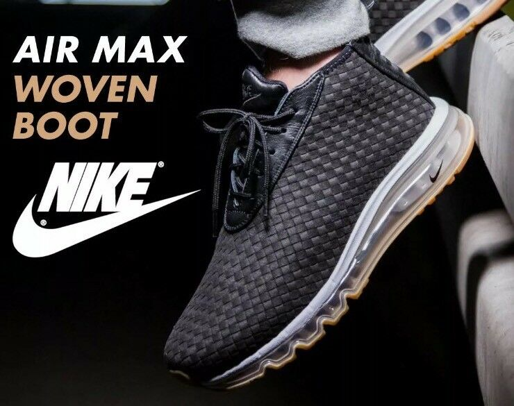 NWT Mens Black Nike NikeLab Air Max Woven Boot Sneakerboots - 921854-003 - SZ-10