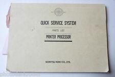 Noritsu QSS 2701 2711 1600SM Parts List Printer Processor English Japanese USED