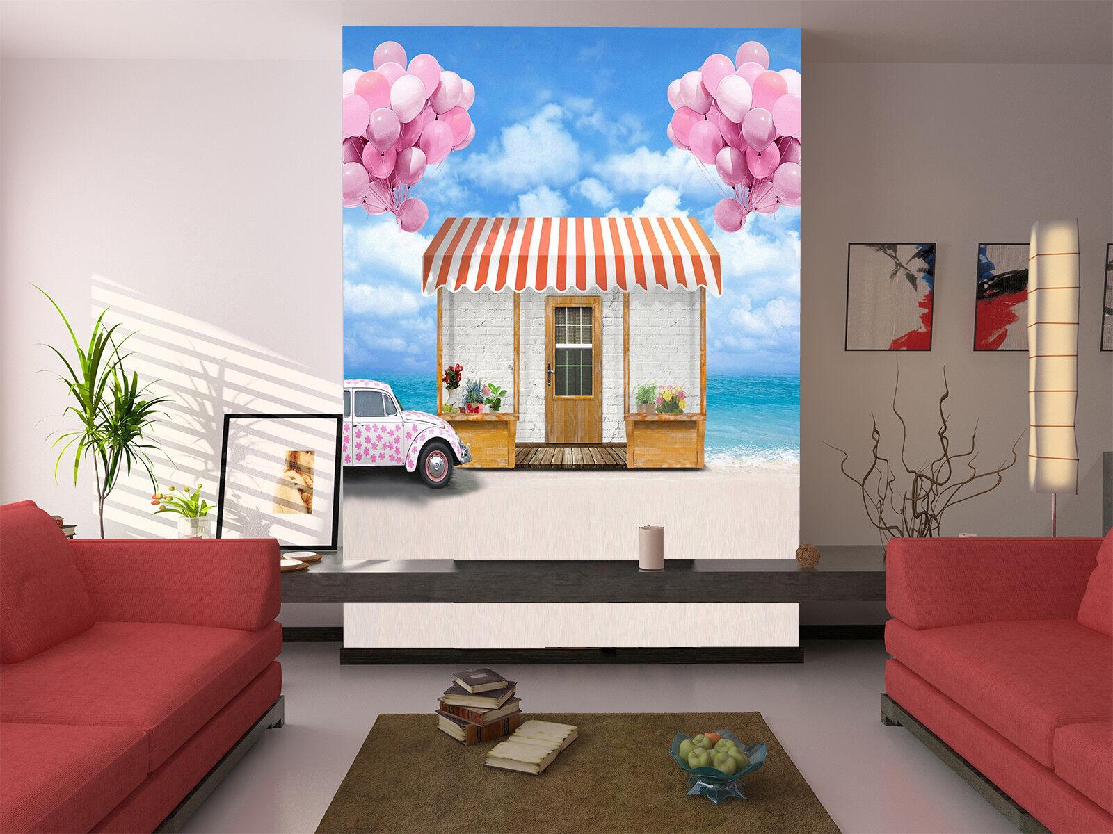 3D Balloons Hut Car 75 Wall Paper Murals Wall Print Wall Wallpaper Mural AU Kyra