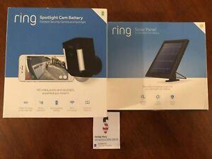 Ring-Security-Surveillance-Camera-Spotlight-Cam-Solar-Wireless-Battery-HD-Black