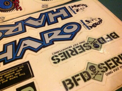 HARO BIKES  BLAMMO SUPER STICKER SET DECALS BMX 90S OLD MID SCHOOL