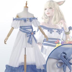 Final Fantasy Xiv Ff 14 Spring Dress Lolita Cosplay Costume Kostüm