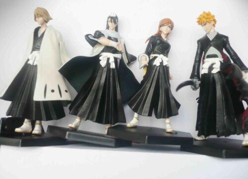 new lot of 4 anime BLEACH  Kurosaki Ichigo BYAKUYA orihime inou figures set #de3