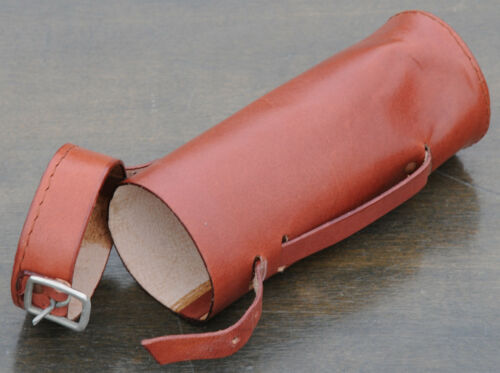 Pouch  4 Vintage Bicycle Hairpin Saddles Phone Lt Brown Leather Bike Tool  Bag
