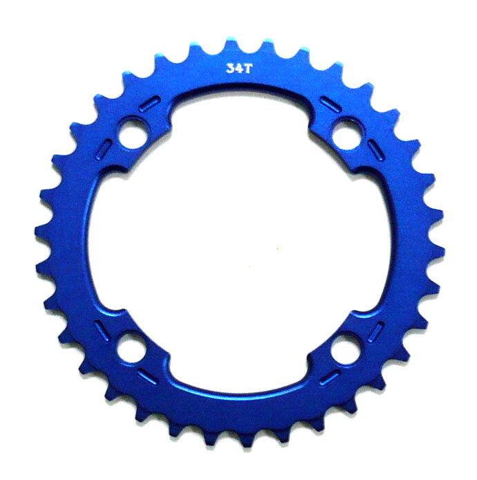 Gobike88 MR CONTROL Chainring 9X 10X MTB, 34T, BCD 104mm, 75g, bluee, P00