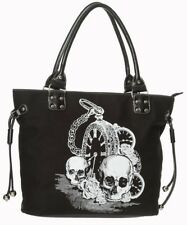1887b8e7e8acd Artikel 2 Banned Skull Clock Black Bag Schulter Tasche Handtasche Totenkopf  Uhr Schwarz -Banned Skull Clock Black Bag Schulter Tasche Handtasche  Totenkopf ...