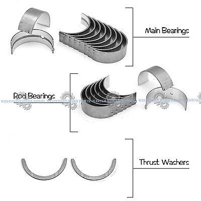03-09 honda accord cr-v element 2.4l k24a1 k24a4 k24z1 main rod engine  bearings | ebay  ebay