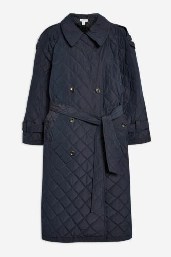 Boutique Rrp coat di £ 180 Size Trench trapuntato S 00 Topshop 0IwqwHO