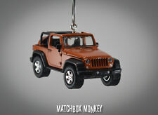 2014 Jeep Wrangler Open Top Unlimited Custom Ornament 1/64 Mango Tango CJ XJ