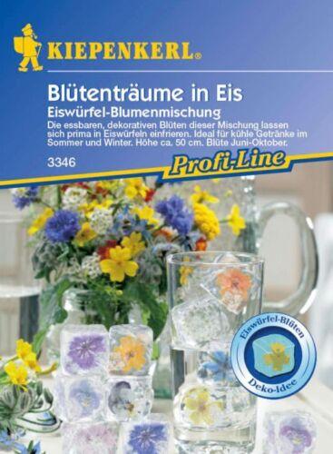 KIEPENKERL-Fleurs de rêves en glace 3346 Comestible Fleurs glaçons Fleurs Mélange