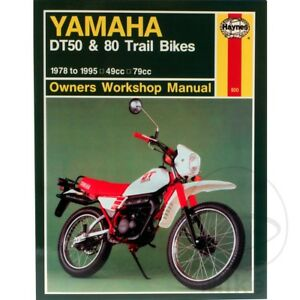 Yamaha DT 50 MX 1987-1989 Haynes Service Repair Manual 0800