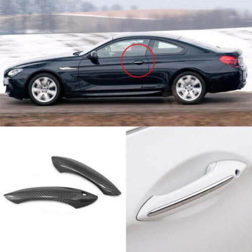 Carbon Fiber Exterior Door Handle Cover Overlay Trims For BMW F06 F12 F13 2 Door