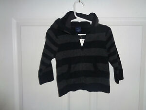 61be7fca469e NWT Toddler Boy s - Baby Gap - Gray Zip-Up Hooded Sweater Jacket ...