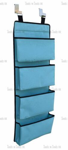 Ciel Couleur Bleu Neuf 4 niveau Suspension Porte Crochet Organisateur poches de rangement Armoire