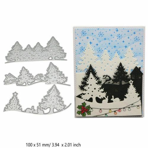 Christmas Deer Metal Cutting Dies Stencil Scrapbooking DIY Album Card Embossing