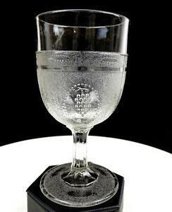 BEADED-GRAPE-MEDALLION-BOSTON-SILVER-EAPG-GLASS-NON-FLINT-6-034-WATER-1869-1871