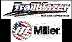 USA FLAG MILLER WELDER BOBCAT SET OF 4 DECALS GLOSSY DECAL STICKER