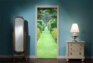 Door-Mural-Beautiful-Green-Garden-Walkway-view-Wall-Stickers-Decal-Wallpaper-99