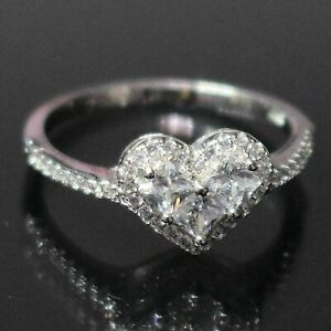 1-5-Ct-Heart-Cubic-Zirconia-Ring-Women-Wedding-Jewelry-14K-White-Gold-Plated