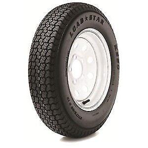 Rv Boat Trailer Tire Loadstar St 175 80d13 White Wheel 13 5 Lug Rim