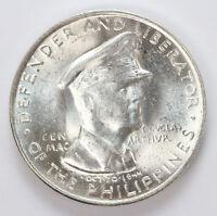 1947 S Philippines Silver Half Dollar Gen Douglas MacArthur - CH BU #01307652g