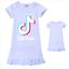 Kids-Girls-Tik-Tok-Nightdress-Short-Sleeve-Nightie-Skirt-Sleepwear-Nightwear-Top thumbnail 5