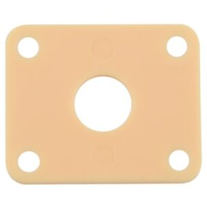 for-Gibson-Les-Paul-Plastic-Jackplate-Cover-Milk-yellow-P100IV-S2Z9