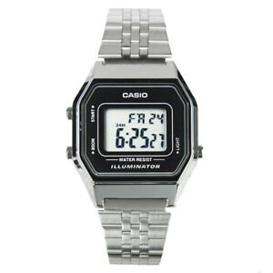 Casio-Women-039-s-Stopwatch-Alarm-Digital-Stainless-Steel-Watch-LA680WA-1DF