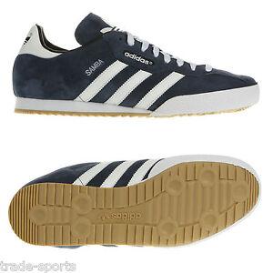Adidas-Originaux-Hommes-Samba-Cuir-Suede-Taille-7-8-8-5-9-10-11-12-Baskets-Bleu