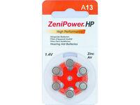 Zenipower Hearing Aid Size 13 Sixty Batteries